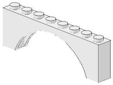 LEGO Bau- & Konstruktionsspielzeug LEGO Brücke Torbogen 1x8 3308 weiß