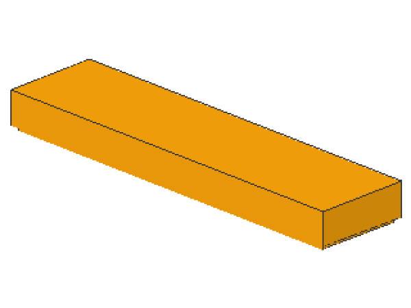 Lego Fliese 1 x 4, mittel orange