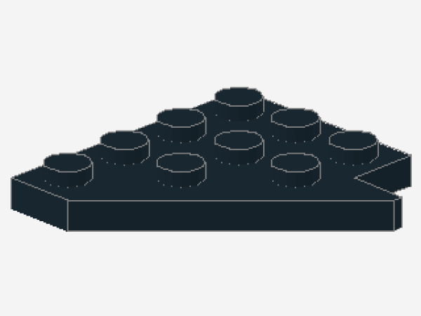 Lego--48183--Flügel--Platte--Mit Ausschnitt-2 Stück--Schwarz- 3 x 4 Aussparung